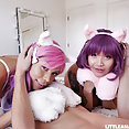 Cosplay cat girls get into naughty trouble - image