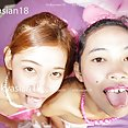 Cute Thai girls like to get naked for money - image