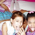 Young thai girls spit and drool - image