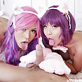 Cosplay cat girls get caught being naughty - image