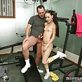 Flat chested and impossibly skinny Amai Liu big cock sex - image