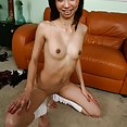 Skinny and tiny flat chested Filipina cosplay girl sex - image