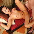 Petite Thai girl submits to impossibly deep penetrations - image